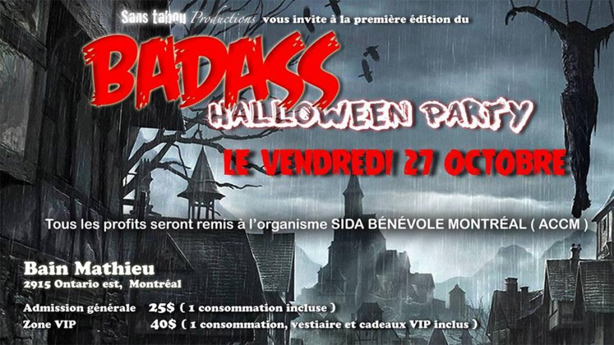 Party d'Halloween «badass» au Bain Mathieu