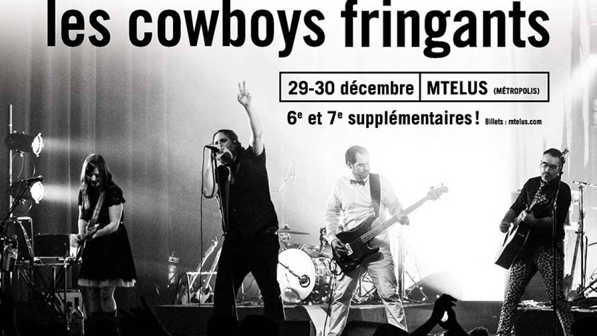 Les Cowboys Fringants enflammeront les planches du MTelus le 29 et 30 décembre