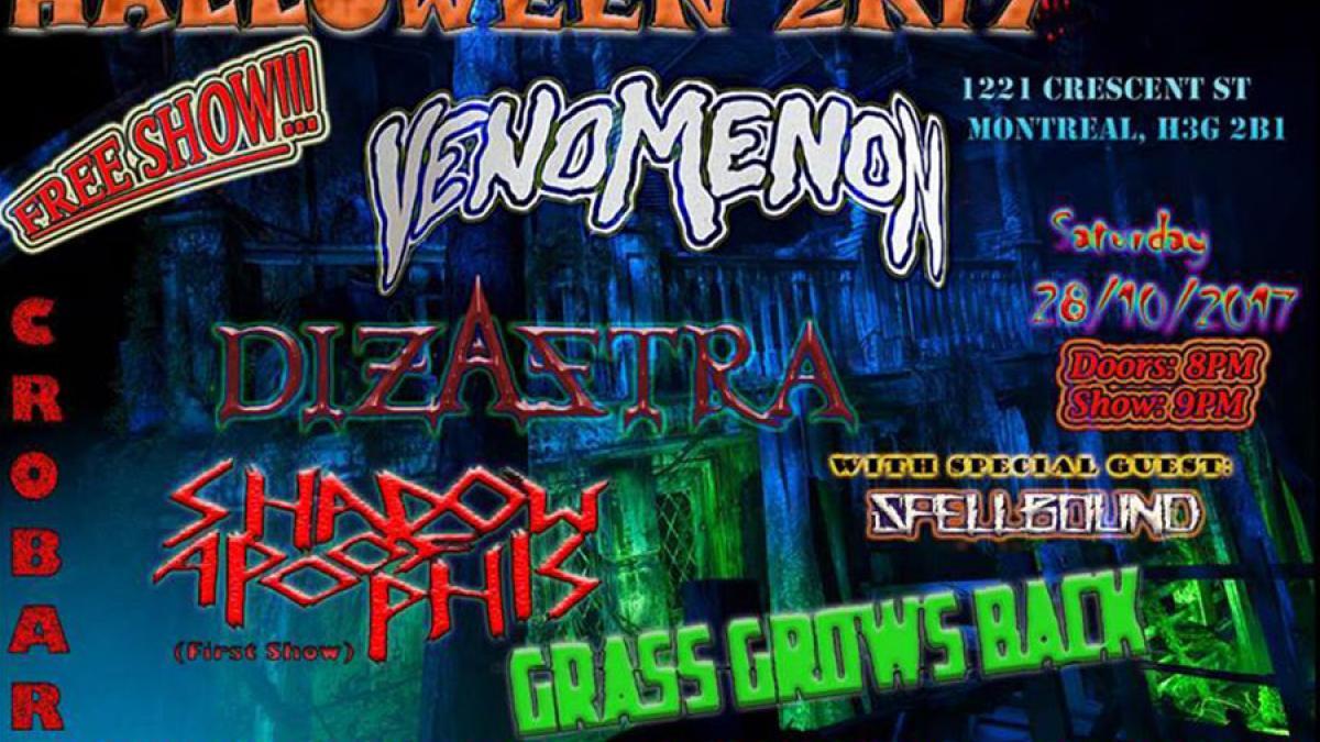 Soirée death metal au Crobar