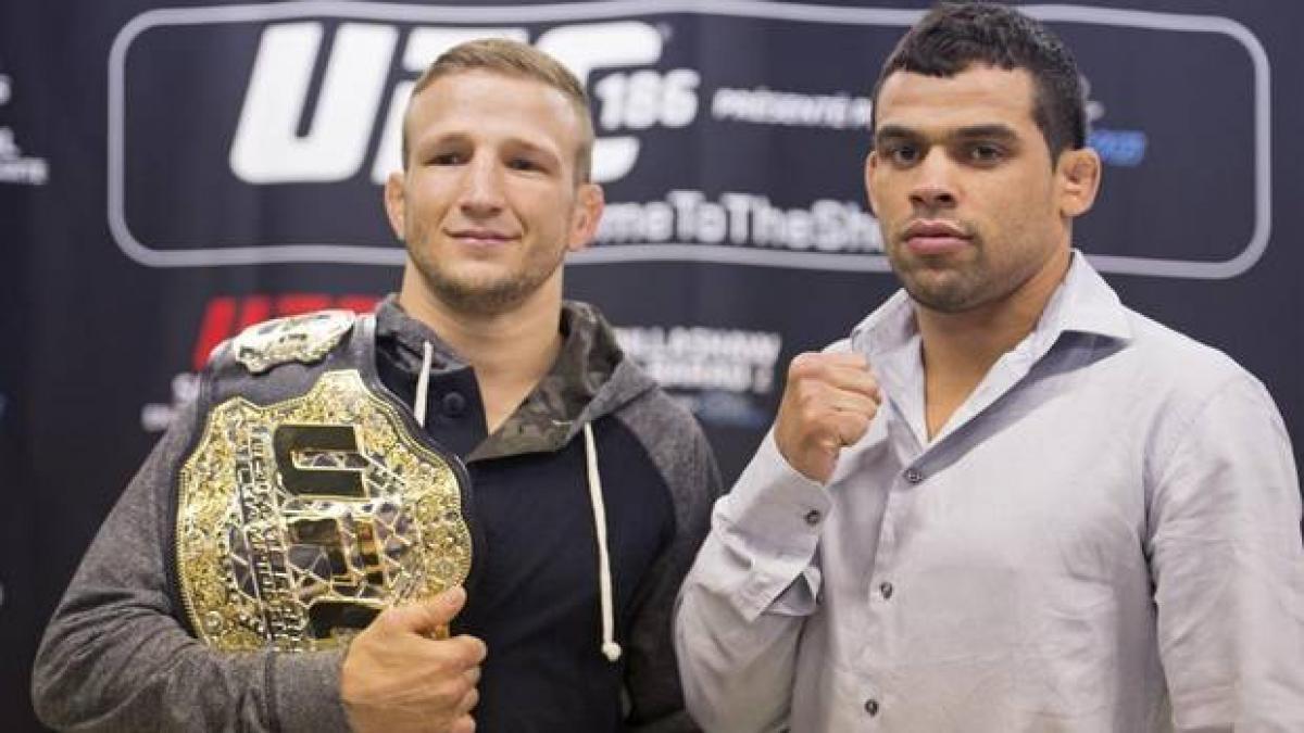 Tj Dillashaw et Renan Barao se rencontre pour au Centre Bell de Montréal pour l'UFC 186