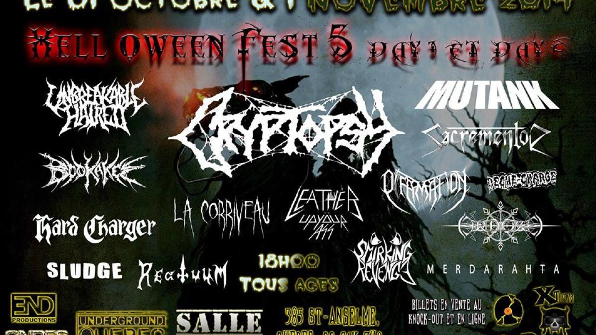 Hell-O-Ween Fest 5 avec Cryptopsy