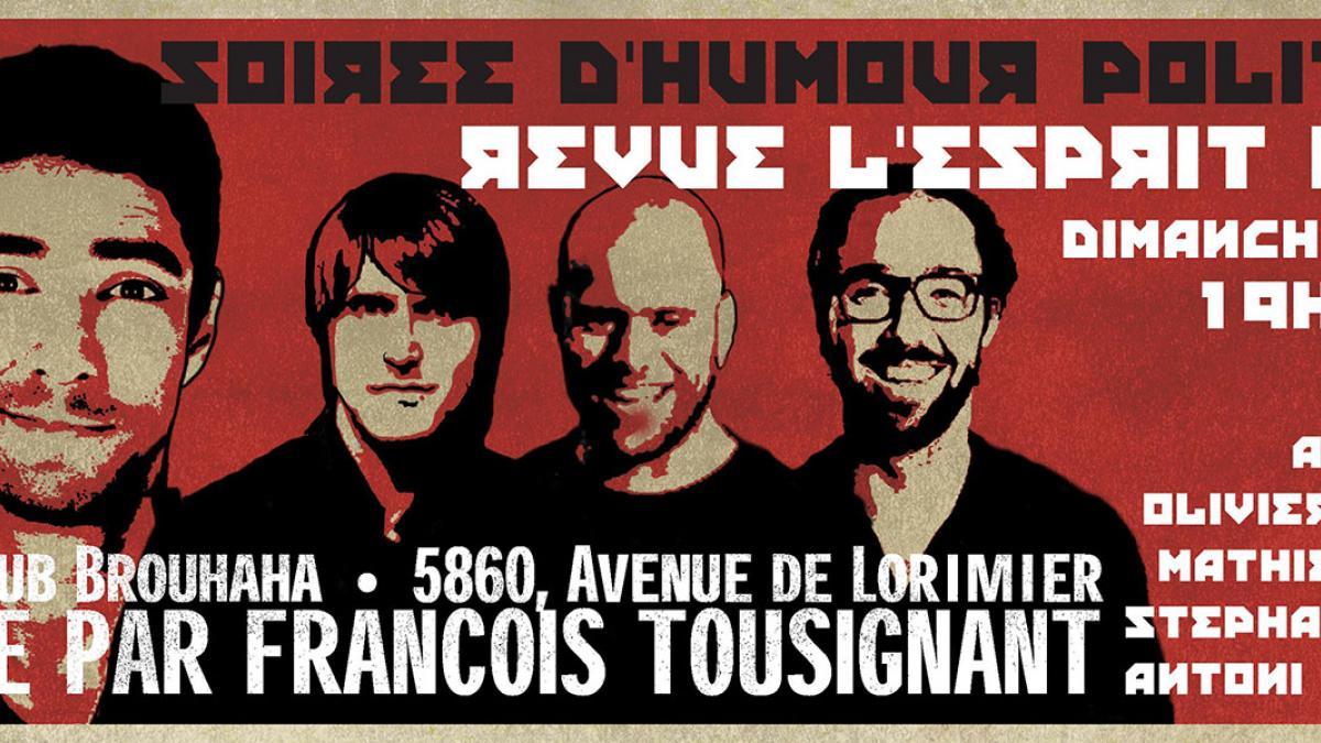 Une nouvelle soirée d'humour politique à Montréal