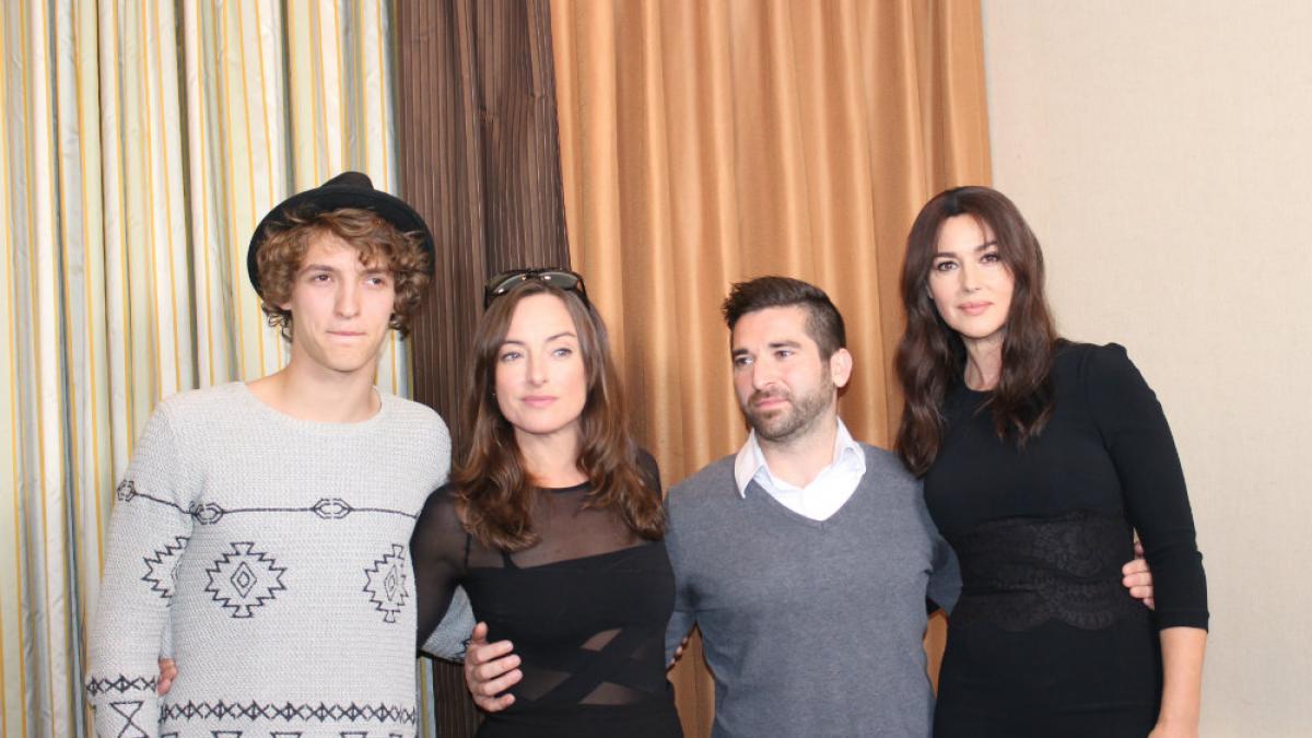 Ville-Marie de Guy Édoin - gauche à droite: Aliocha Schneider, Pascale Bussières, Guy Édoin et Monica Bellucci
