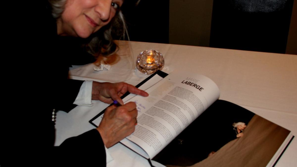 Marie Laberge au lancement de « Femmes de parole! »