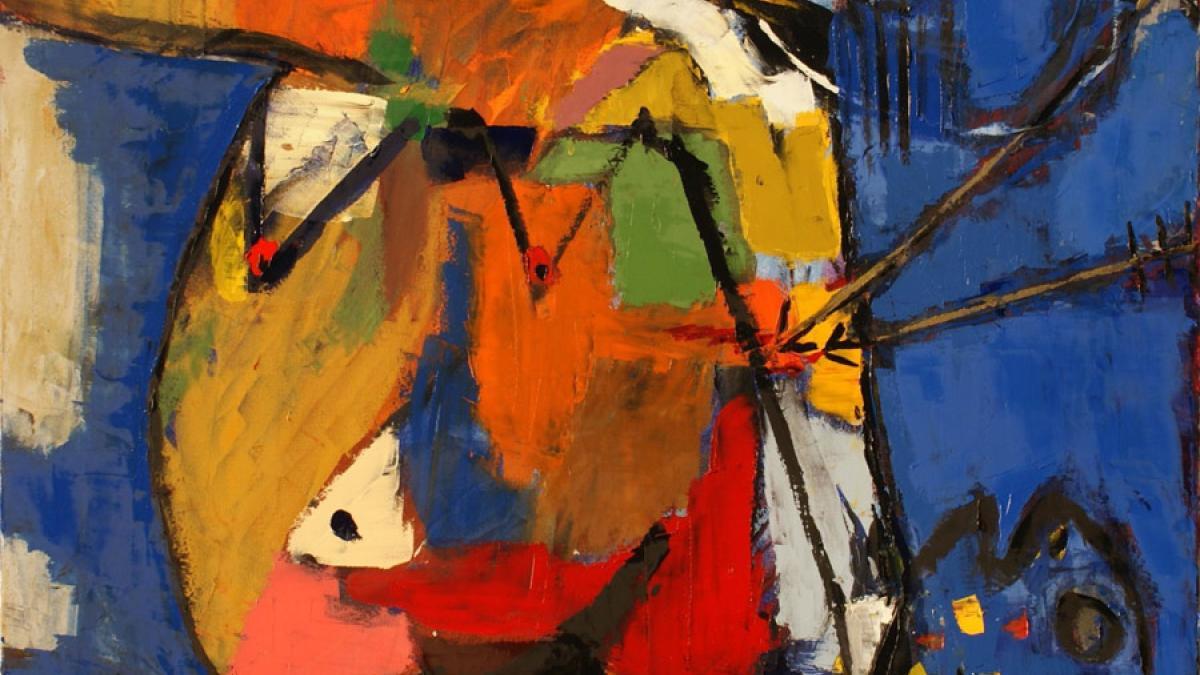 «Liberté d'expression», tableau de Michel Blouin, huile sur toile, 36 x 36 pouces