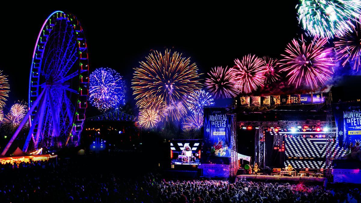Party du Nouvel An 2020 au Vieux-Port de Montréal