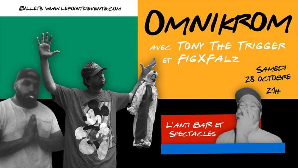Show costumé avec Omnikrom, Tony The Trigger et FigxFalz à L'Anti