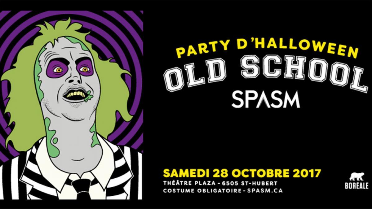 Party d'Halloween Old School SPASM 2017 au Théâtre Plaza