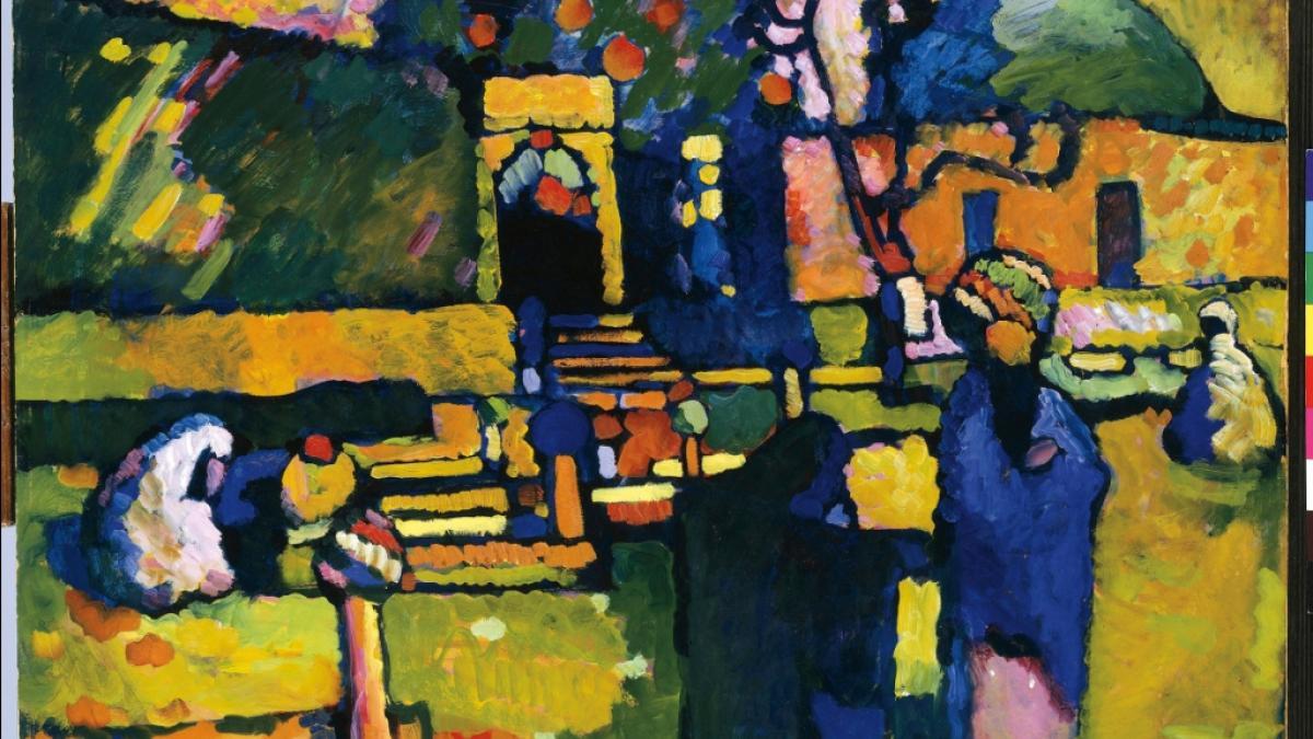 Wassily Kandinsky (1866‐1944) Arabes I. (Cimetière), 1909 Hamburger Kunsthalle, Hambourg, Allemagne