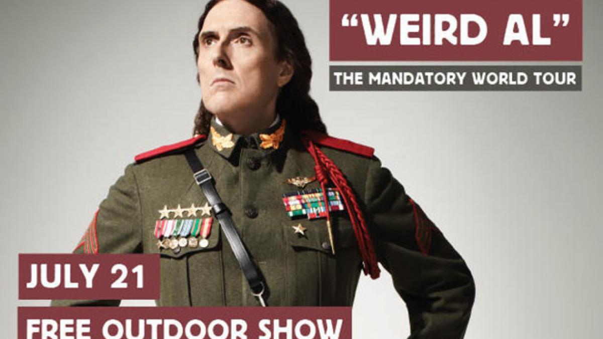 Spectacle gratuit de Weird Al Yankovic le 21 juillet
